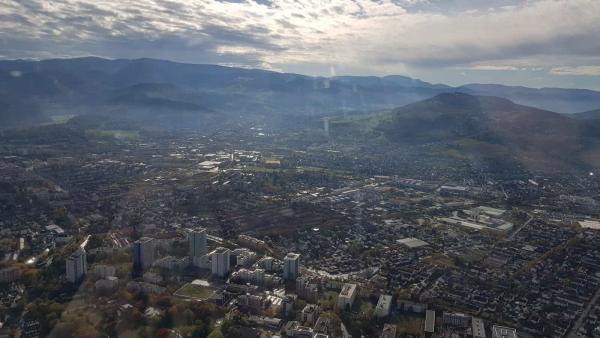 Freiburg aus dem Ultraleicht Flugzeug