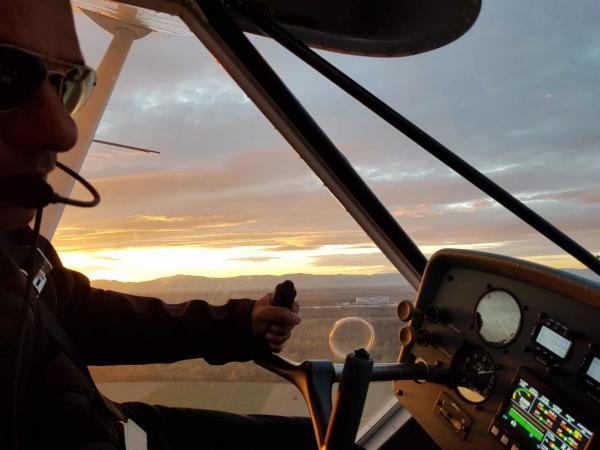 Pilot fuer 1 Tag Flugzeug