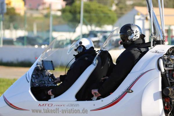 Schulungsflug mit dem Gyrocopter